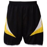 Calção para Futebol Premium Preto/Amarelo GG Adulto - Kanga Sport