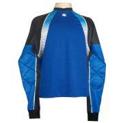 Camisa de Goleiro Profissional modelo Paraí Tam GG Nº 1 Azul Royal/Preto - Kanxa