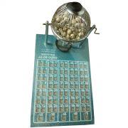 Jogo de Bingo Nº1 Pequeno Globo Cromado - Az de Ouro