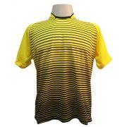 Jogo de Camisa com 12 unidades modelo City Amarelo/Preto + 1 Camisa de Goleiro