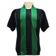 Jogo de Camisa com 18 unidades modelo Milan Preto/Verde