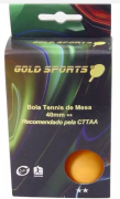 Kit 6 Bolas Para Tênis de Mesa 2 Star Gold  Sports