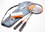 Kit Badminton 2 Raquetes 3 Petecas - Vollo