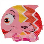 Kit Infantil Óculos + Touca Fish Combo Rosa - Speedo