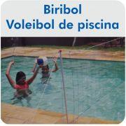 Kit Vôlei de Piscina ( Biribol ) Portátil - Master