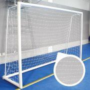 Par de Rede de Futsal Oficial Fio 4 Reforçado - Matrix