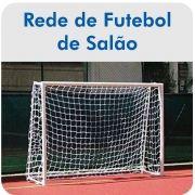 Par de Rede de Futsal Oficial Fio 6 - Master