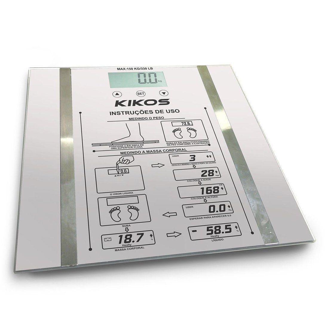 Balança Digital Kikos Ison Prata