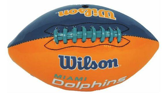 45720dc565f73 Bola de Futebol Americano NFL Miami Dolphins - Wilson - ESTAÇÃO DO ESPORTE  ...