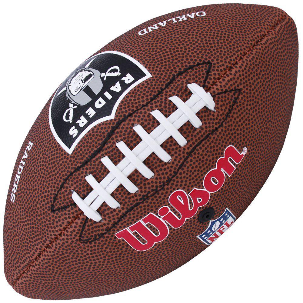 aa6e4d7f3 Bola de Futebol Americano NFL Oakland Raiders - Wilson - ESTAÇÃO DO ESPORTE  ...