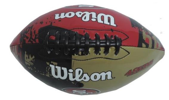 Bola de Futebol Americano NFL San Francisco 49ERS - Wilson 4d1b487c4802a