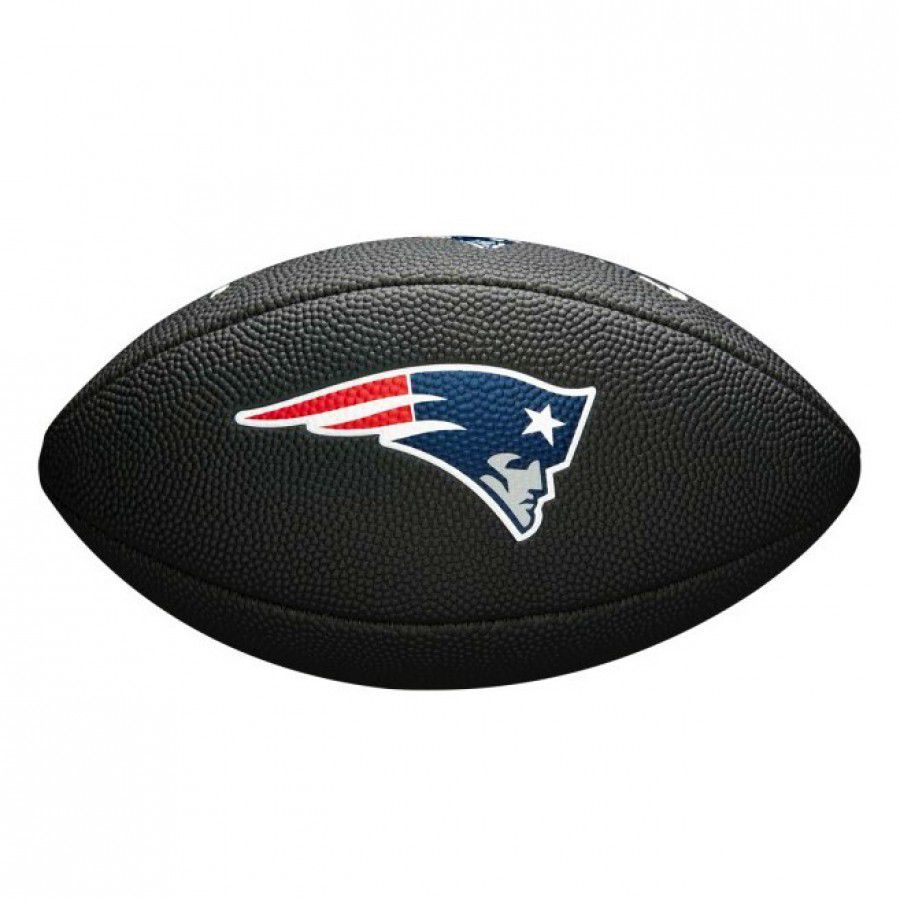 Bola de Futebol Americano Wilson NFL Team Jr New England Patriots Black Edition