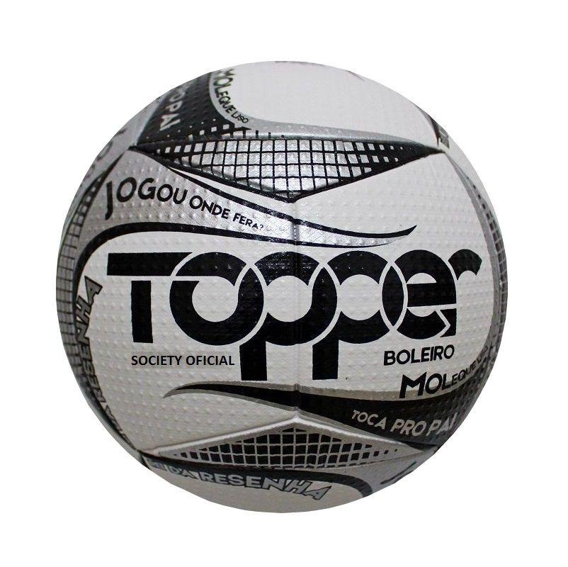 Bola de Futebol Society Boleiro Cinza - Topper