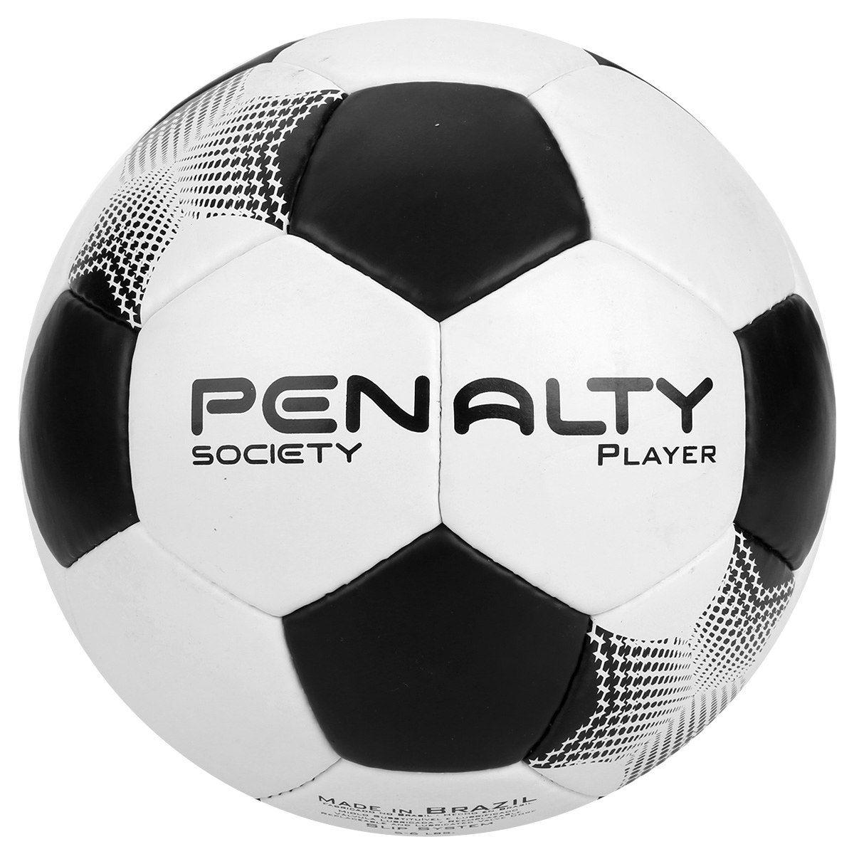 Bola de Society Player VII Branco e Preto - Penalty