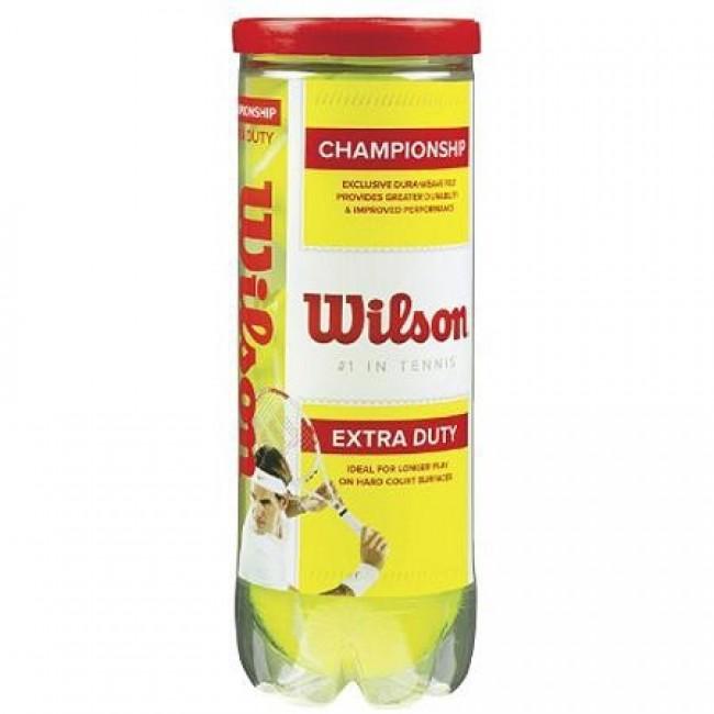 Bola de Tênis Championship Extra Duty TUBO COM 3UN - Wilson   - ESTAÇÃO DO ESPORTE