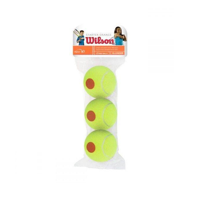 Bola de Tênis Wilson Starter Stage 2 Orange Pacote com 03 Unidades