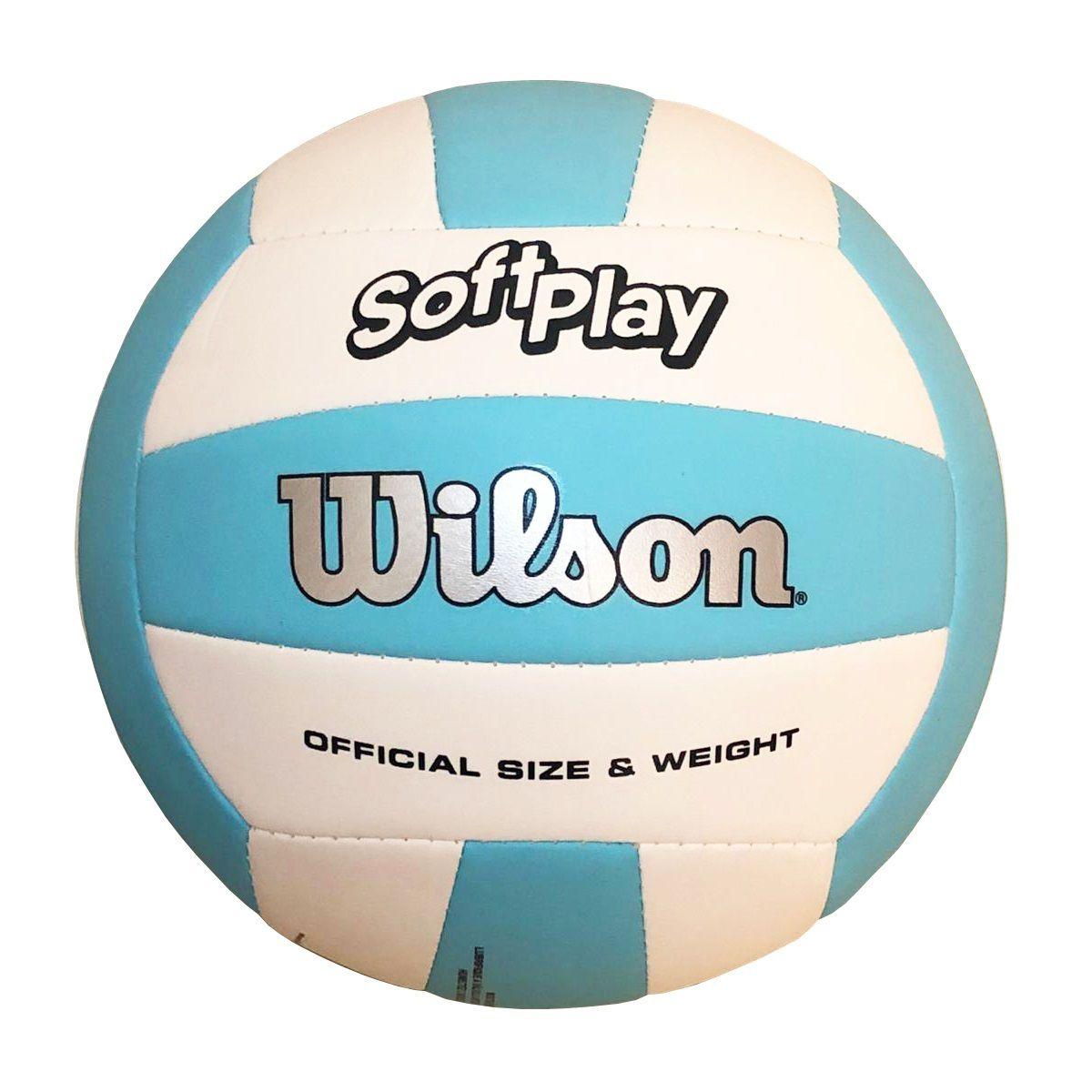 Bola de Vôlei Wilson Soft Play (Celeste e Branco)
