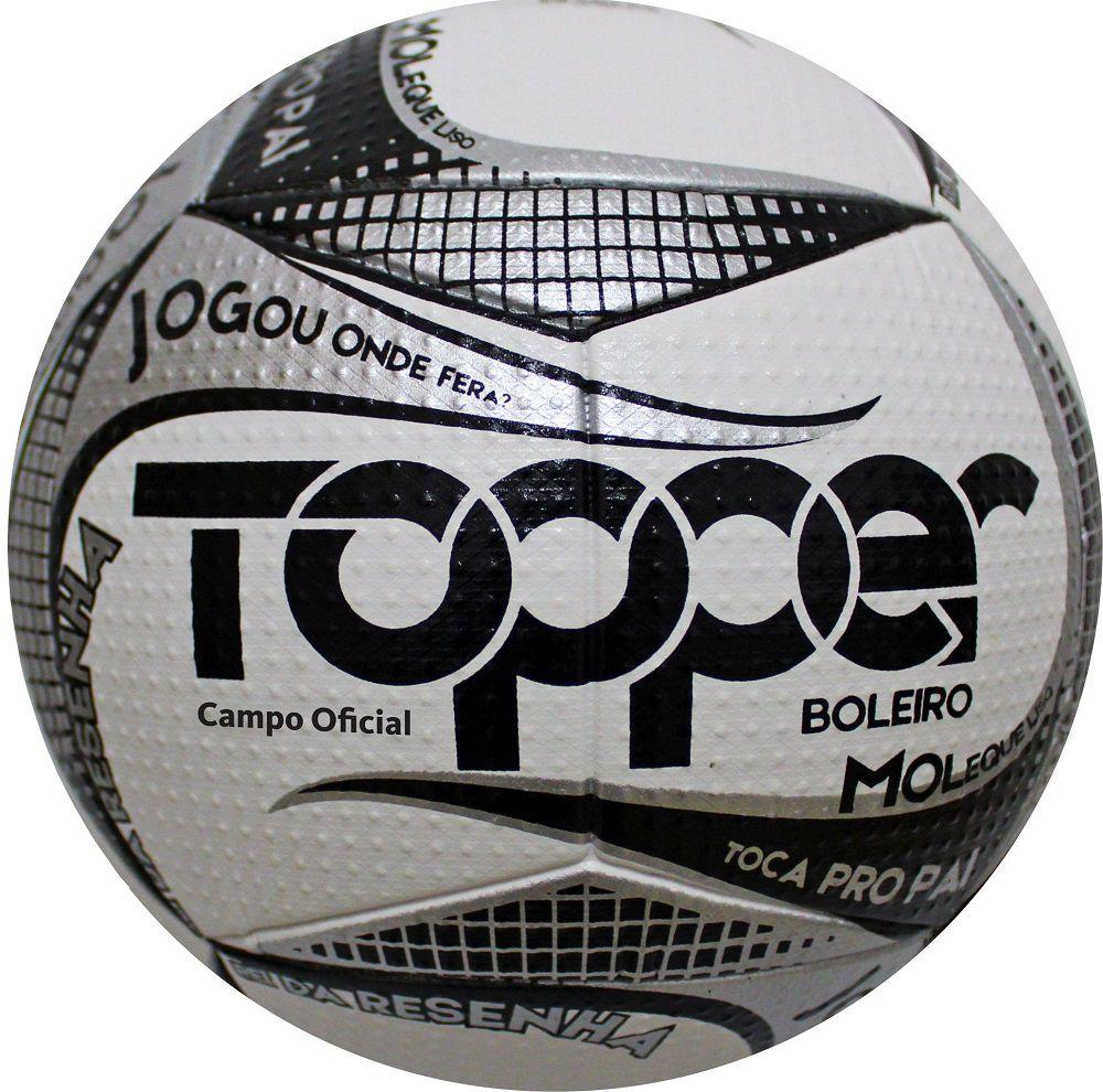 Bola Futebol de Campo Boleiro Branco/Cinza 2019 - Topper