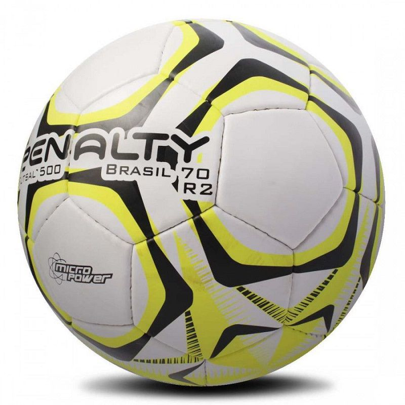 Bola Futsal 500 Brasil 70 R2 IX (Preta e Amarela) - Penalty