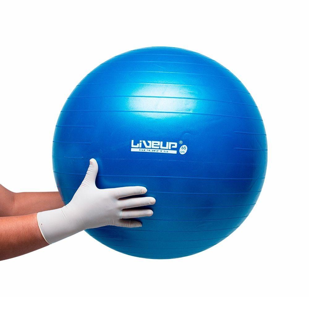 Bola Suíça Premium LiveUp para Pilates 65cm Azul