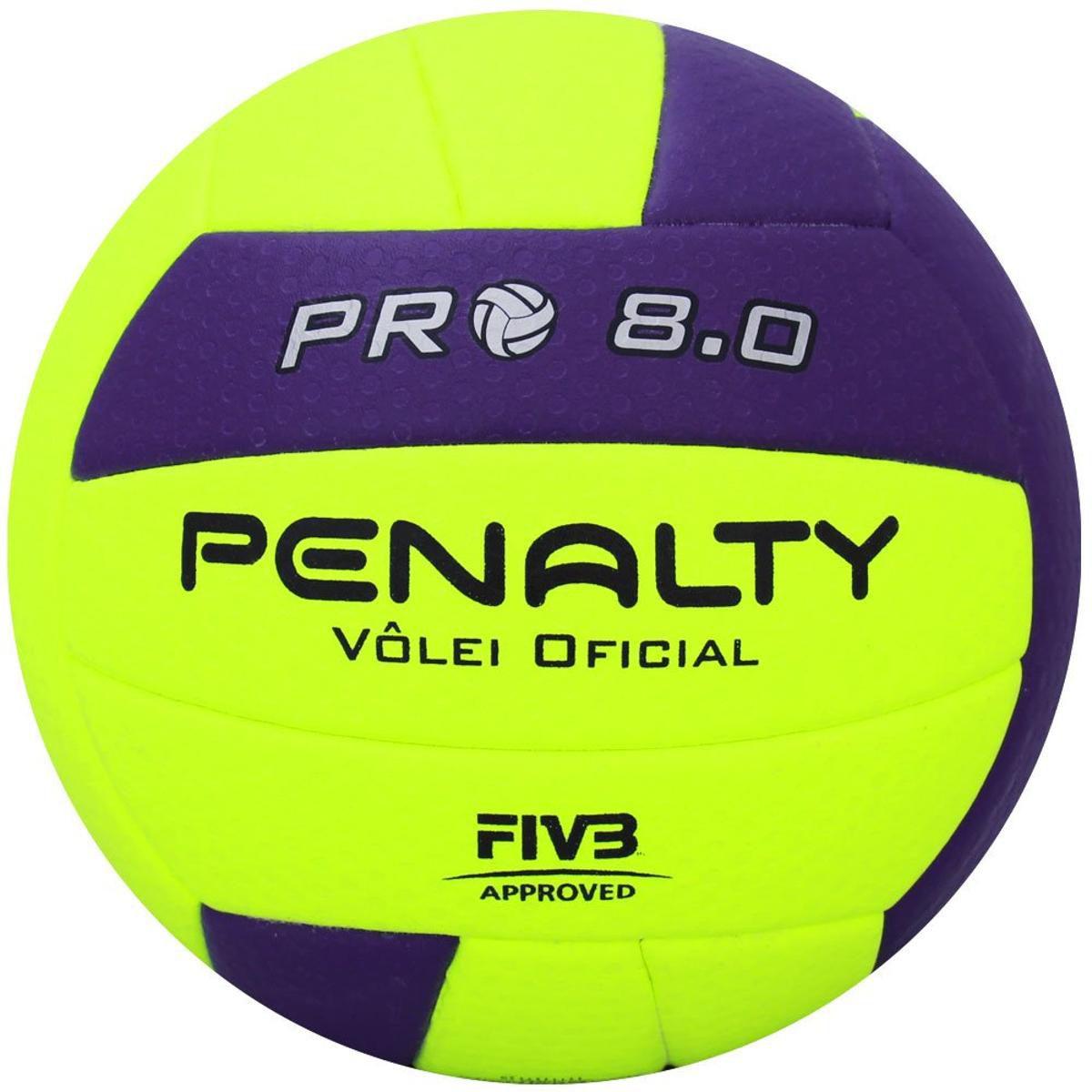 Bola Vôlei 8.0 Pro IX (Verde e Roxo) - Penalty