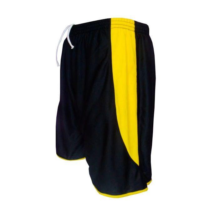 Calção modelo Copa Preto/Amarelo