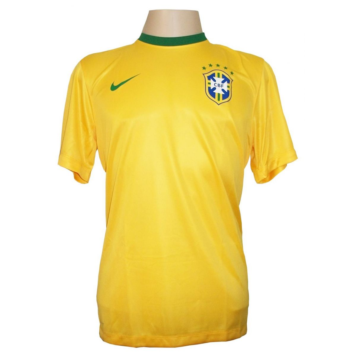 Camisa Brasil Home Infantil - Tecido Dri-fit - Nike