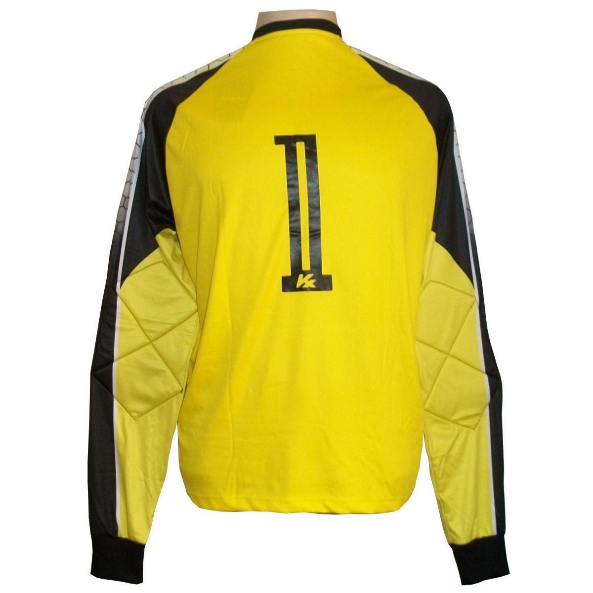Camisa de Goleiro Profissional modelo Paraí Tam G Nº 1 Amarelo/Preto - Kanxa