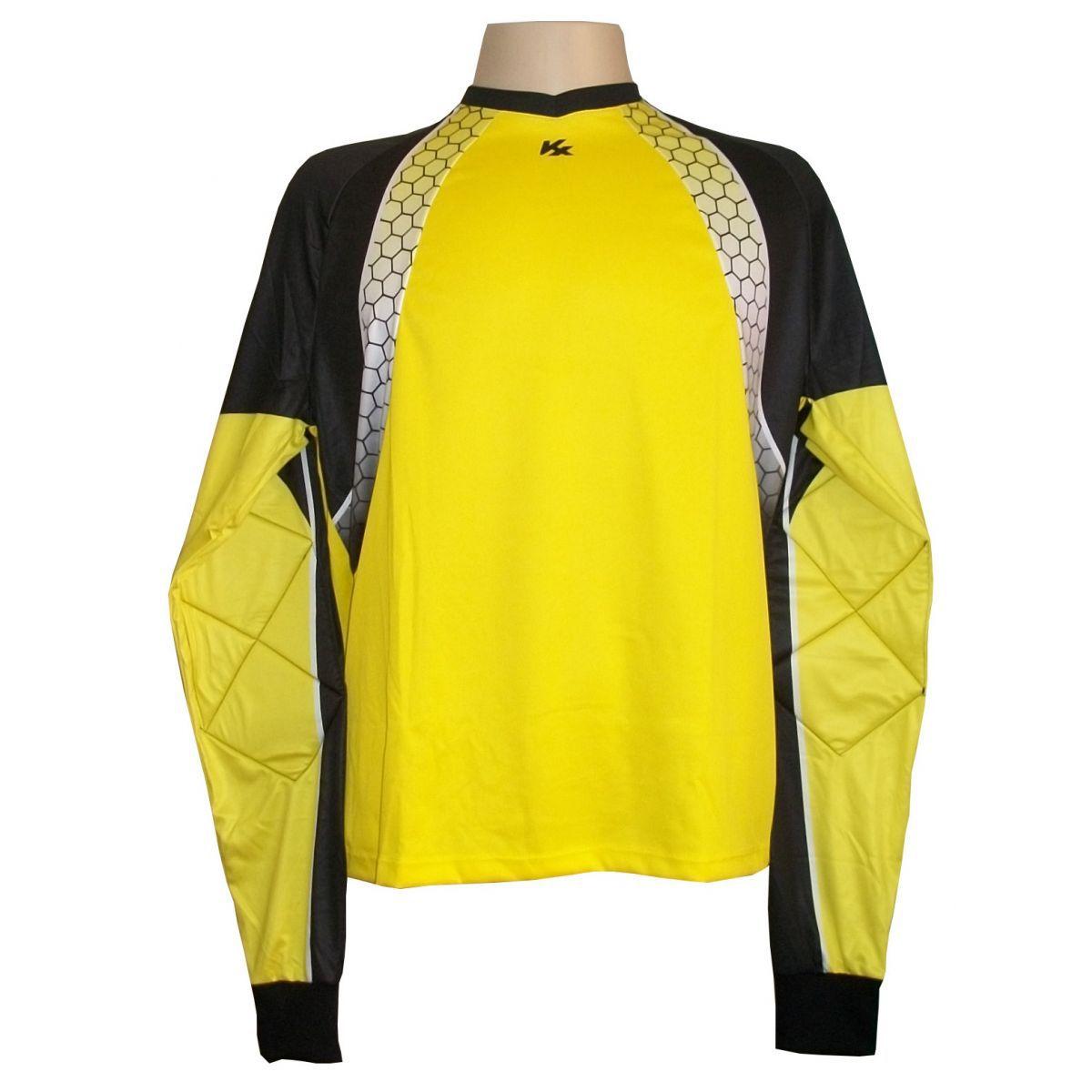 Camisa de Goleiro Profissional modelo Paraí Tam GG Nº 1 Amarelo/Preto - Kanxa