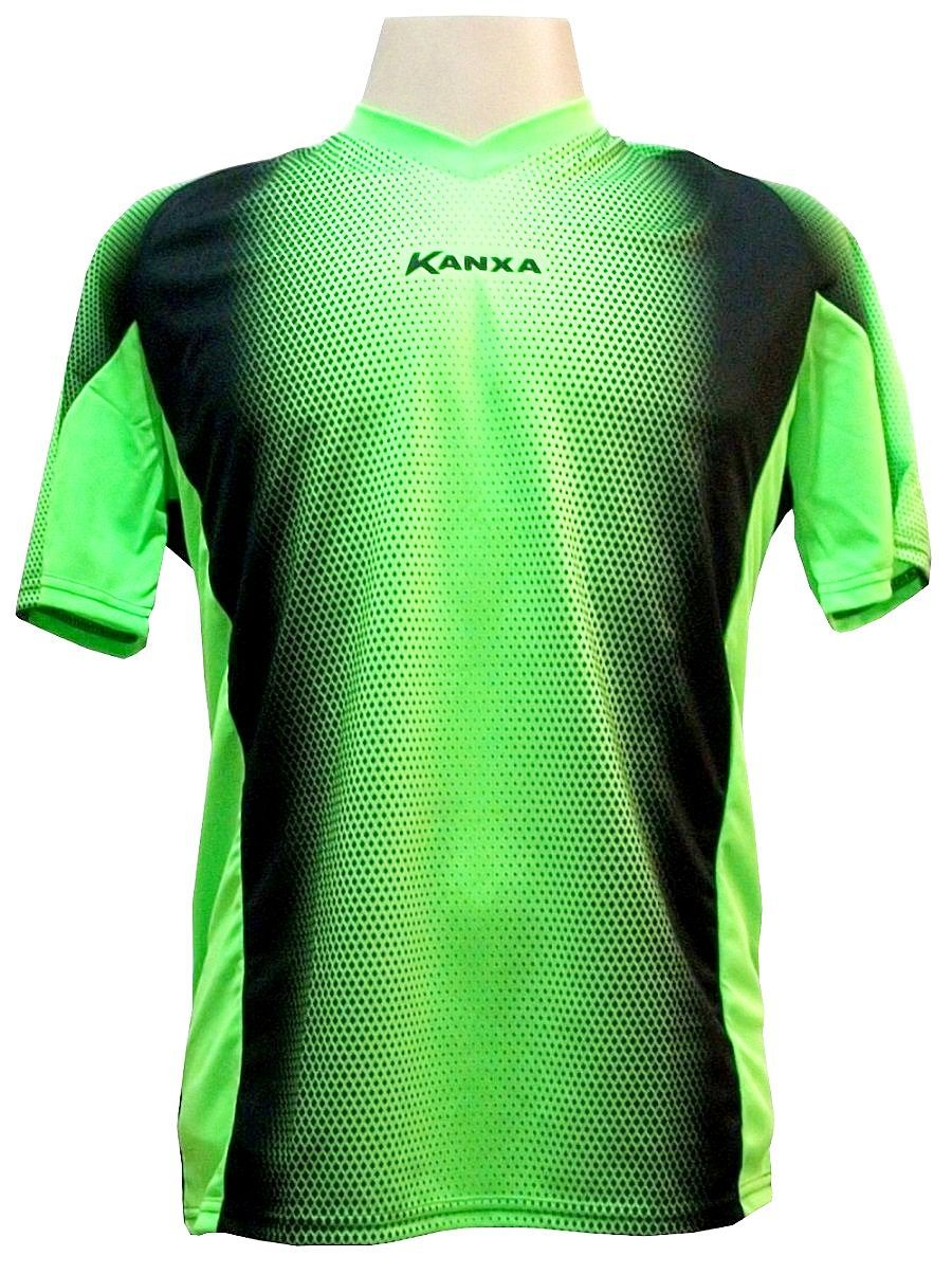 Camisa de Goleiro Profissional modelo Pop Graf Manga Curta Tam G Nº 1 - Limão/Preto - Kanxa
