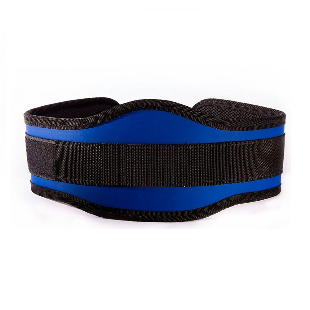 Cinto de Musculação Poli Sports com Proteção Lombar Azul