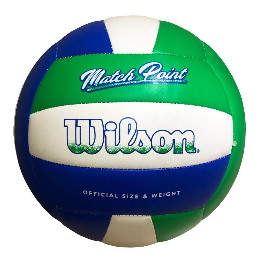 Bola De Volei Wilson Match Point Azul E Verde