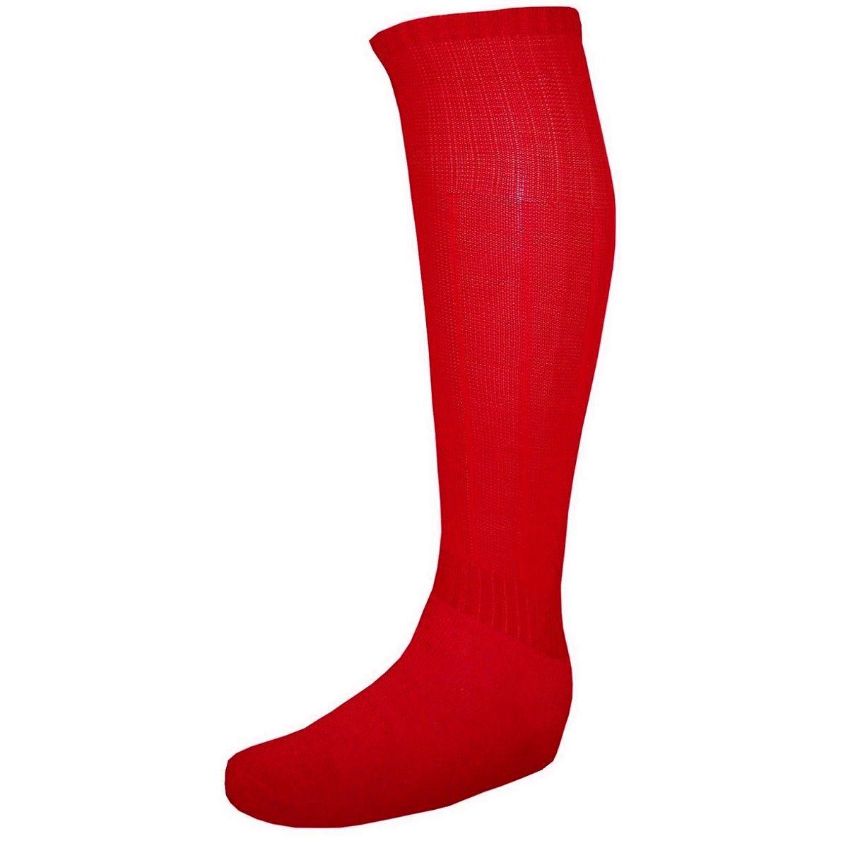 Meião de Futebol Tradicional Reforçado Vermelho - Delfia