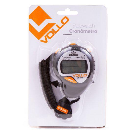 Cronômetro Vollo VL-510 Preto e Laranja
