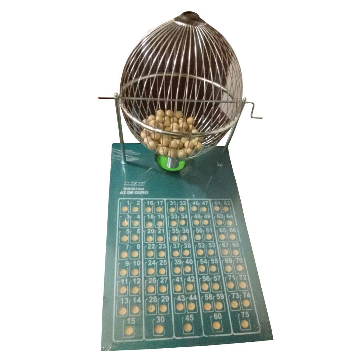 Jogo de Bingo Nº3 Globo Cromado - Az de Ouro