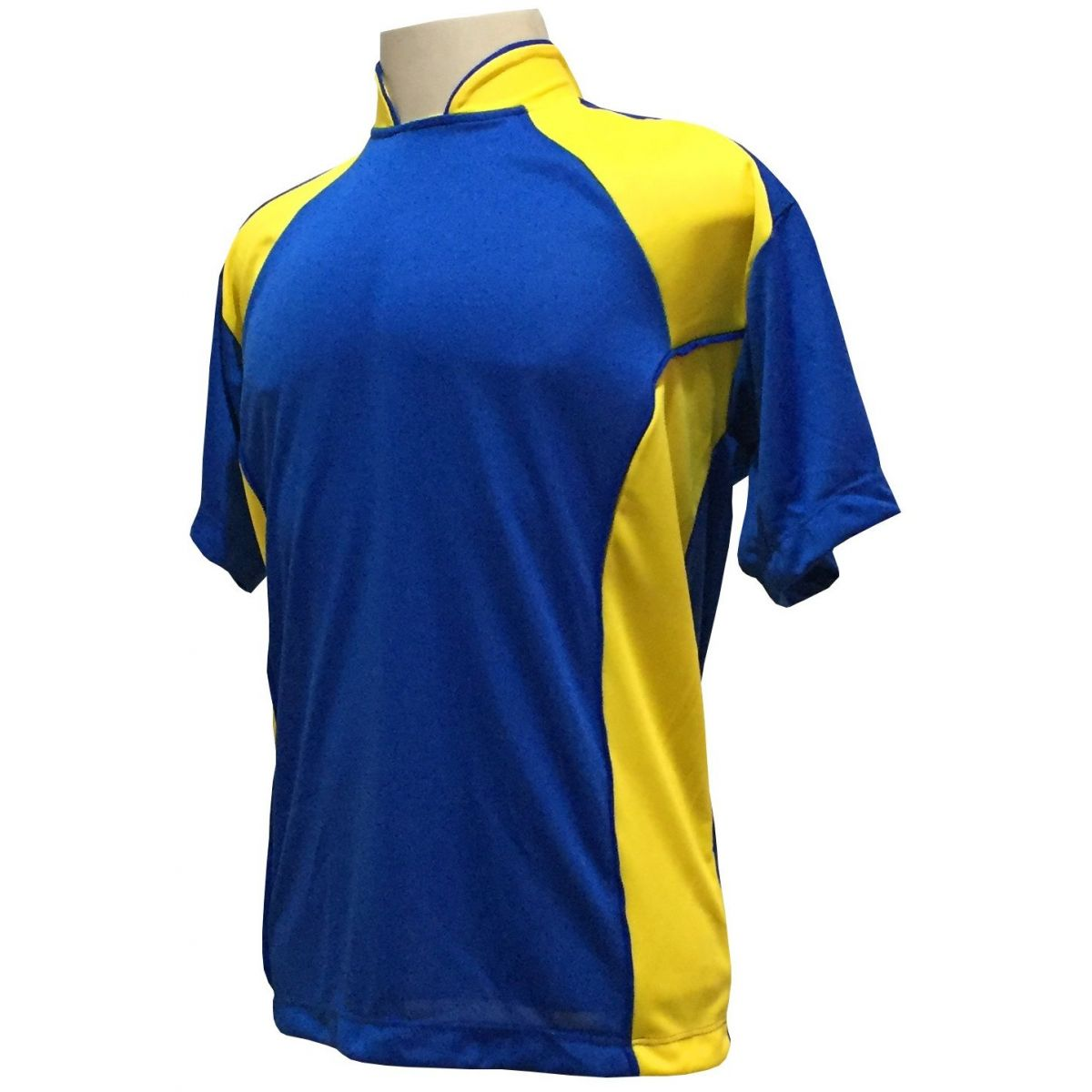Jogo de Camisa com 14 unidades modelo Suécia Royal/Amarelo