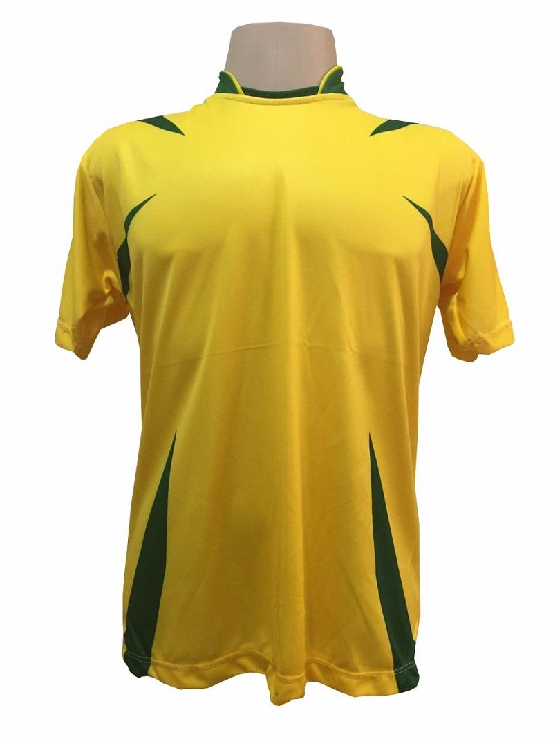 Jogo de Camisa com 14 unidades modelo Palermo Amarelo/Verde