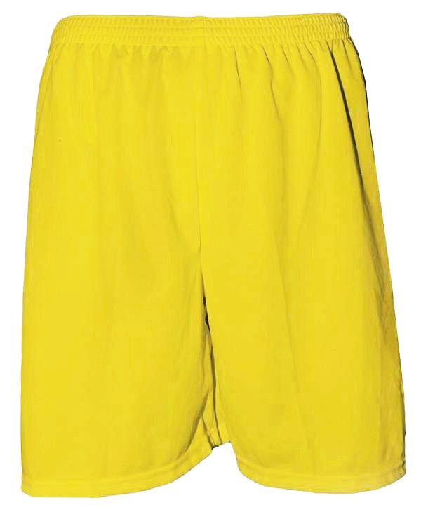 Uniforme Esportivo com 18 Camisas modelo Milan Amarelo/Royal + 18 Calções modelo Madrid Amarelo