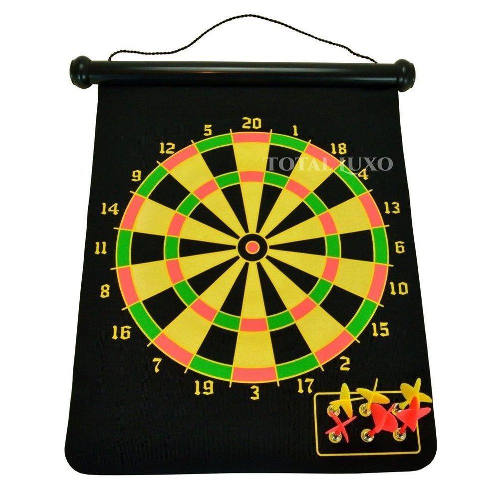 Jogo de Dardo Profissional Gold Sports Alvo Magnético com 6 dardos