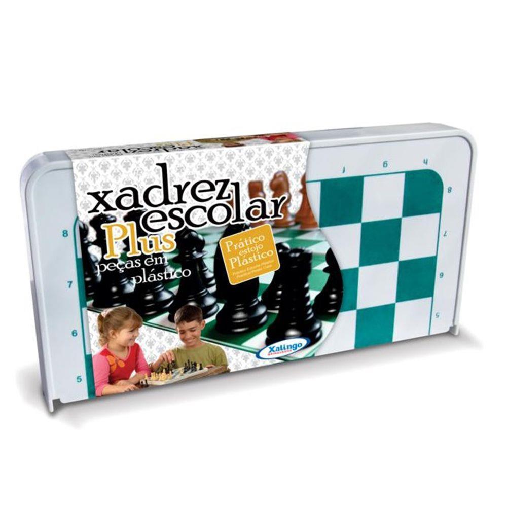 Jogo de Xadrez  Escolar Plus - Xalingo