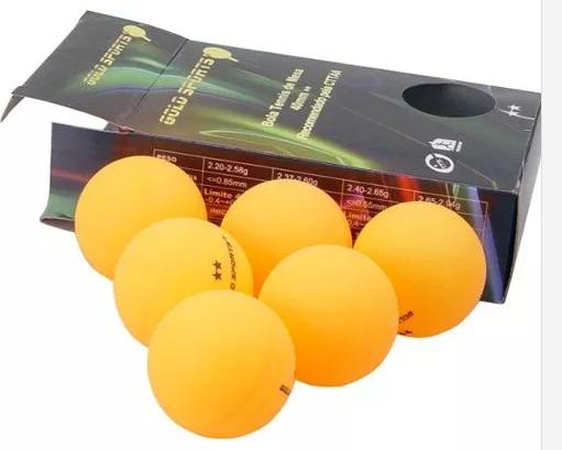Kit 6 Bolas Para Tênis de Mesa 2 Star Gold  Sports