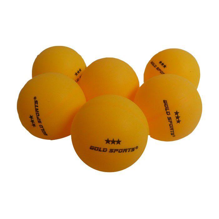 Kit 6 Bolas Para Tênis de Mesa 3 Star - Gold Sports