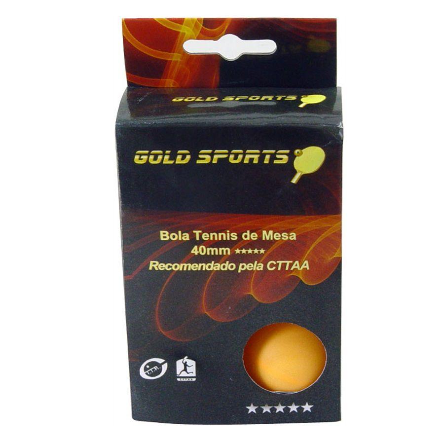 Kit 6 Bolas Tênis de Mesa Gold Sports 5 Star