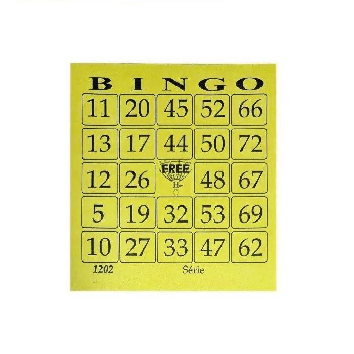 Kit com 3 Blocos de 100 Cartelas de Bingo Cada - Free