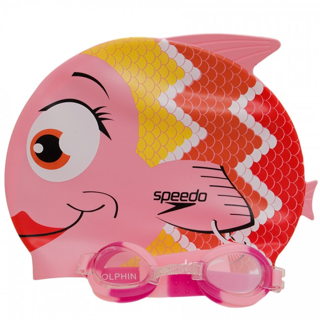 Kit Infantil Óculos + Touca Fish Combo Rosa - Speedo