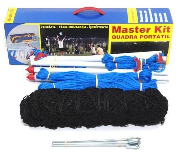 Kit Quadra Portátil Tenis Praia/Campo Oficial Simples - Master