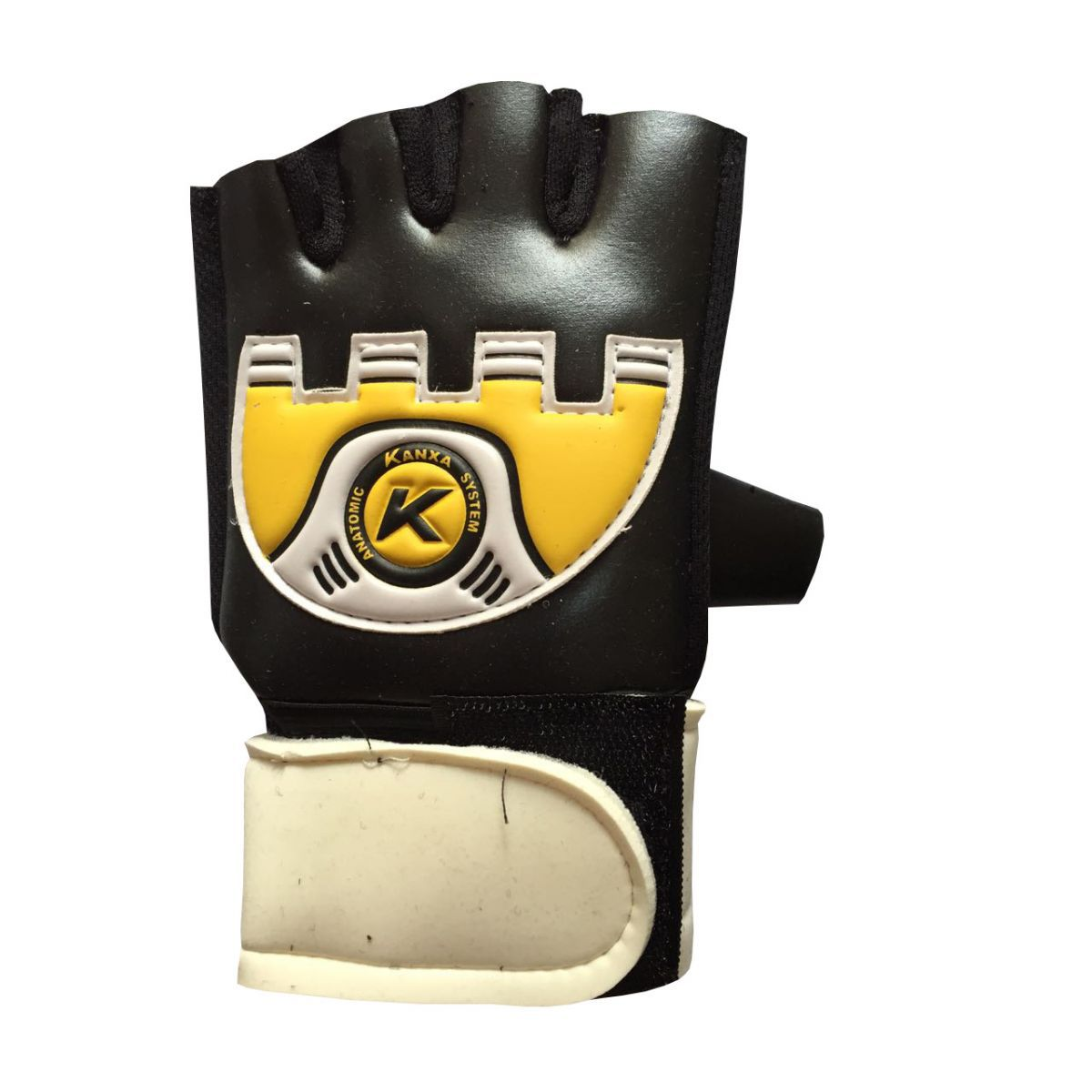 Luva de Futsal Kanxa Power Preto e Amarelo