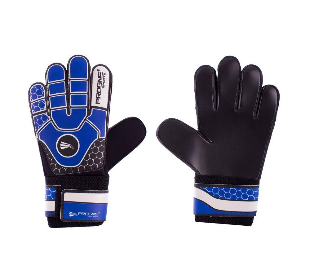 Luva de Goleiro Campo/Society Preto com Azul - Progne Sports