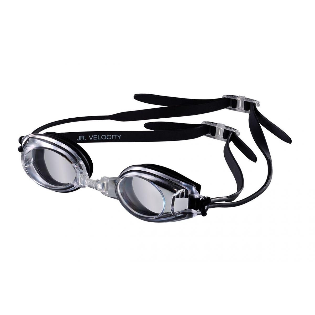 Óculos de Natação Junior Velocity Transparente/Preto - Speedo