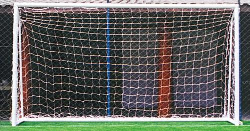 Par de Rede de Futebol Society na cor Branca Fio 2 - P.S.S Redes